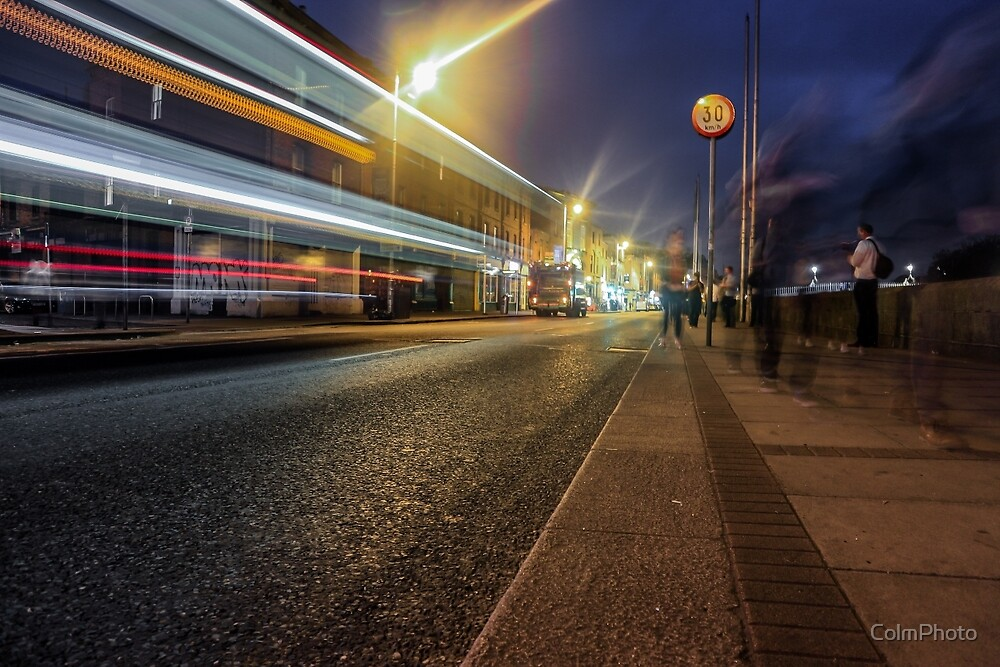 Light trails from a Bus at night by ColmPhoto