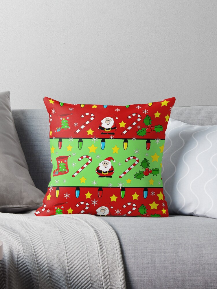Christmas pattern - green and red by ValentinaHramov