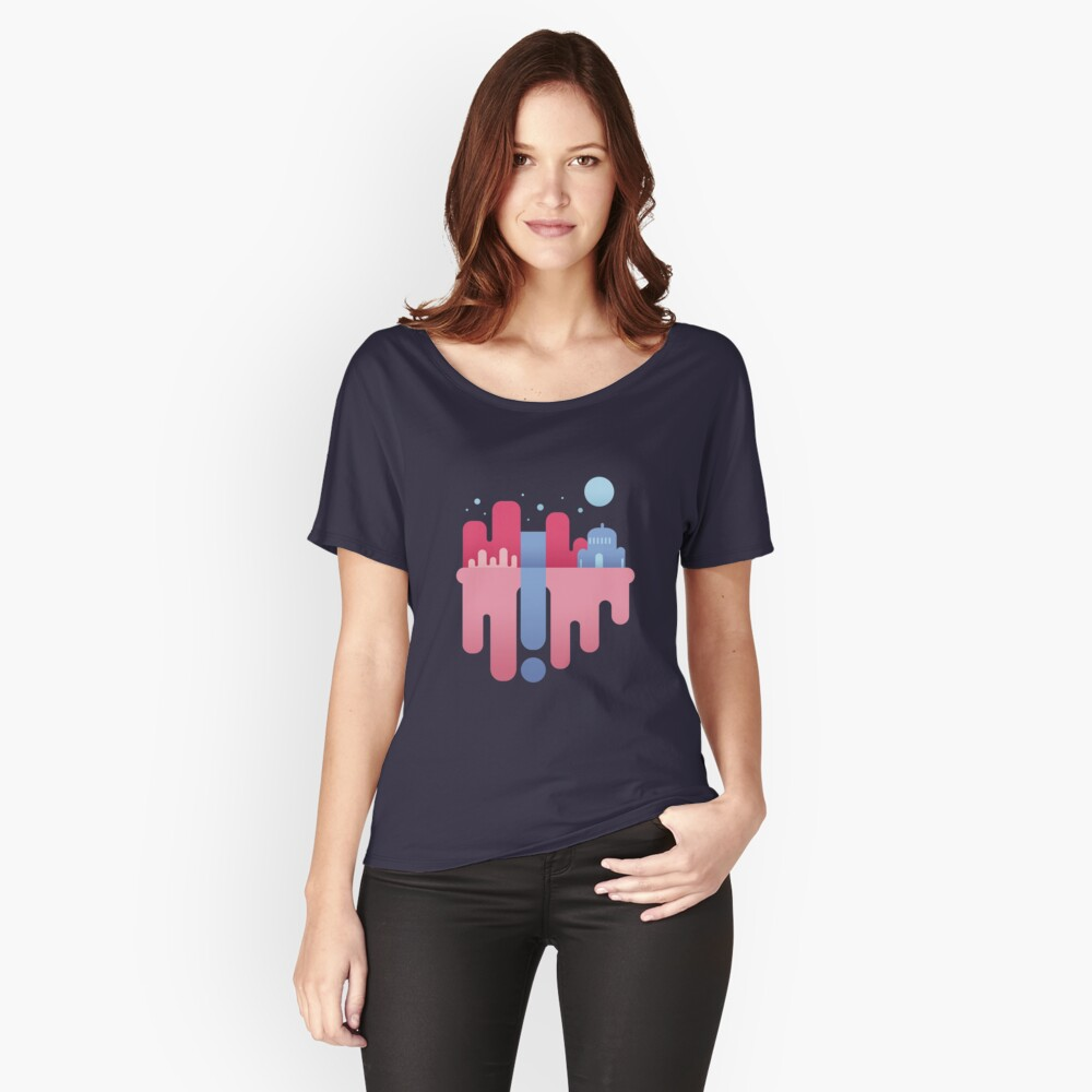 Floating Iland Women's Relaxed Fit T-Shirt Front
