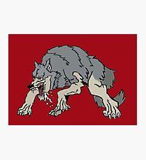 Big bad wolf Photographic Print