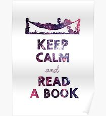 KEEP CALM AND READ A BOOK (Space) Poster