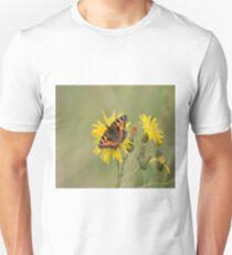 Small Tortoiseshell (Aglais urticae) on a Dandelion T-Shirt