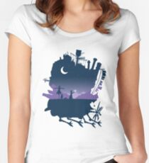 howls moving castle Women's Fitted Scoop T-Shirt