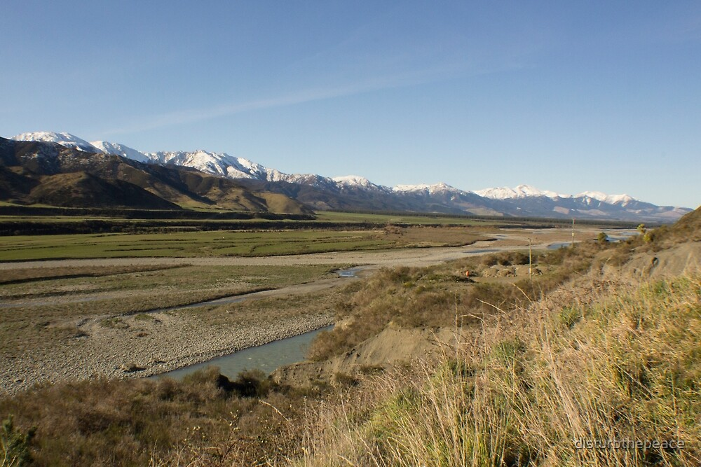 Road to Two Brothers, Lewis Pass, Canterbury, NZ by disturbthepeace