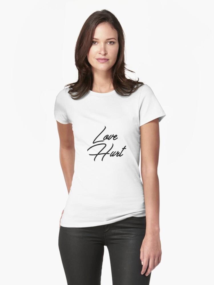 Love Hurt Womens T-Shirt Front