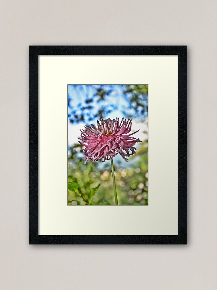 Alternate view of Flower Framed Art Print