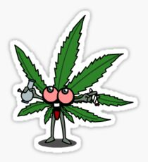 Yay weed leaf Sticker
