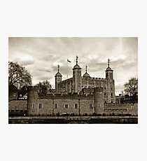 The Tower of London or Her Majesty's Royal Palace and Fortress of the Tower of London Photographic Print