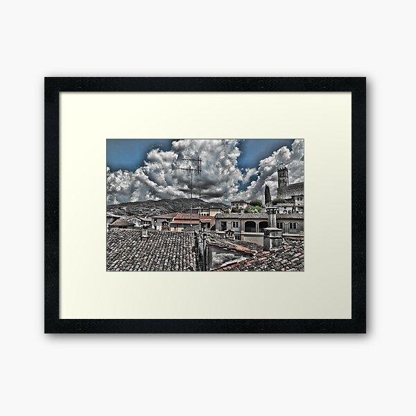 Barga Rooftops Framed Art Print