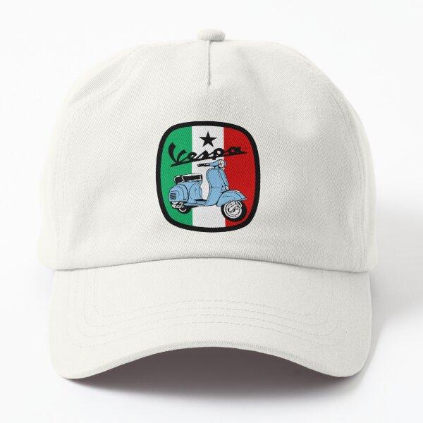 Vespa Classic Badge with Italian Flag Dad Hat