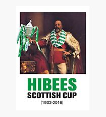 Hibs scottish Cup winners 2016 Photographic Print