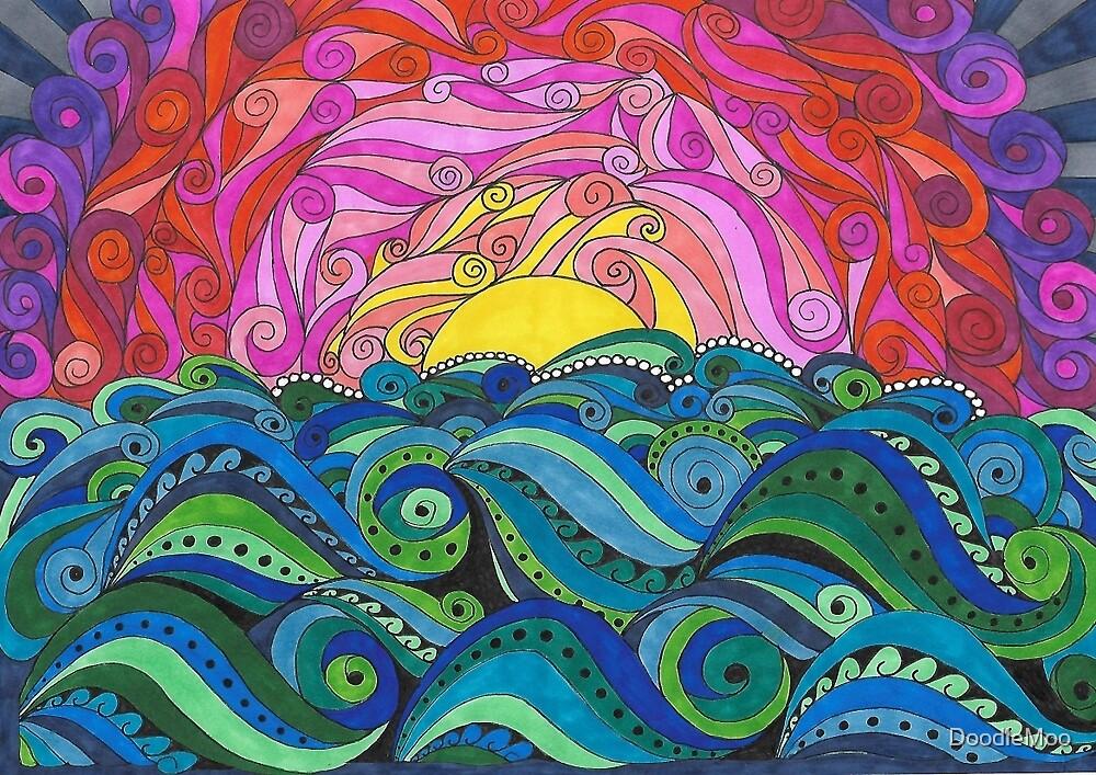 Sunset Moo by DoodleMoo