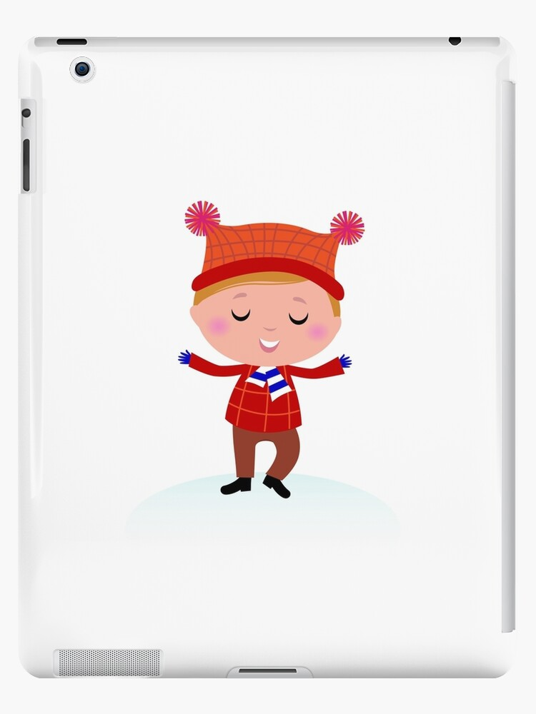 Little Boy in winter costume isolated on white by Bee and Glow Illustrations Shop
