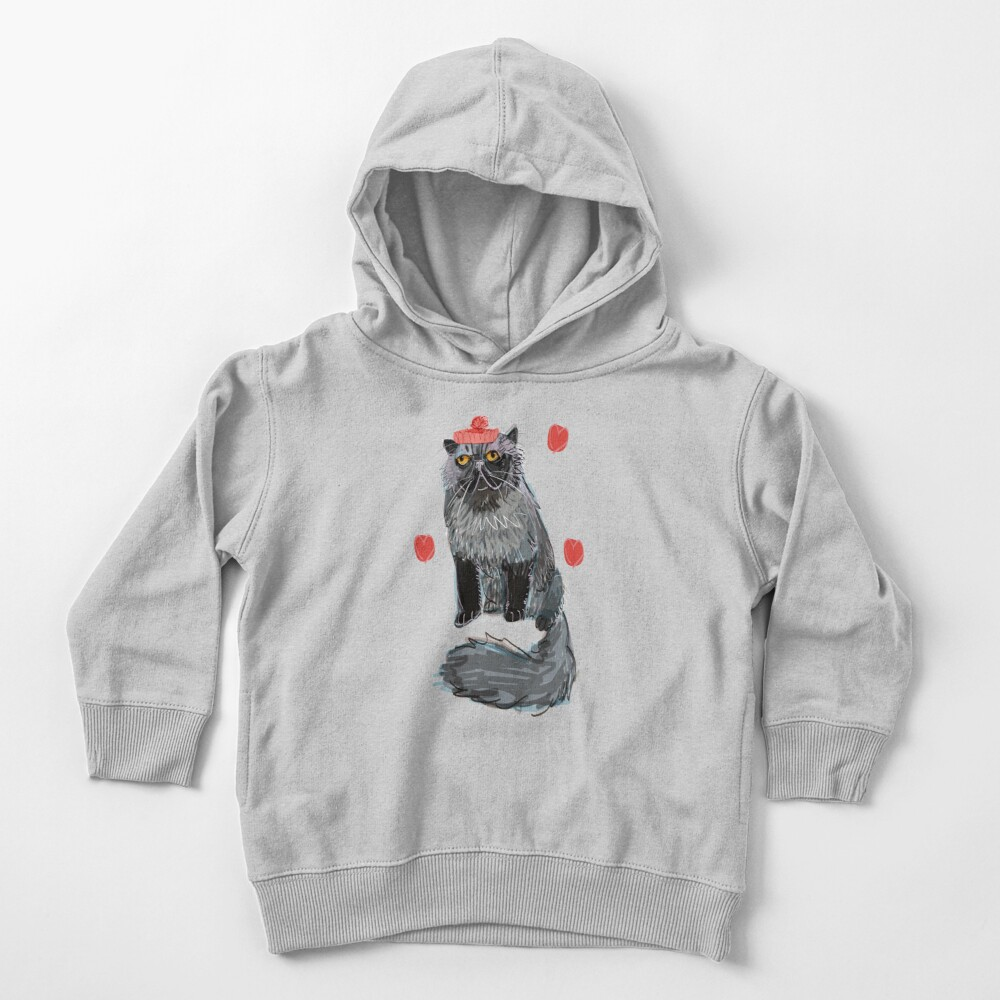 Freddy-Cat pattern in EggPlant color Toddler Pullover Hoodie