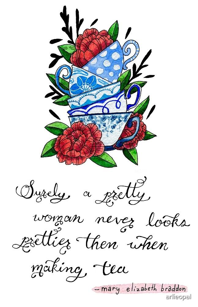 Pretty Teacups Sticker by arlieopal