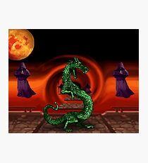 Mortal Kombat Dragon Photographic Print