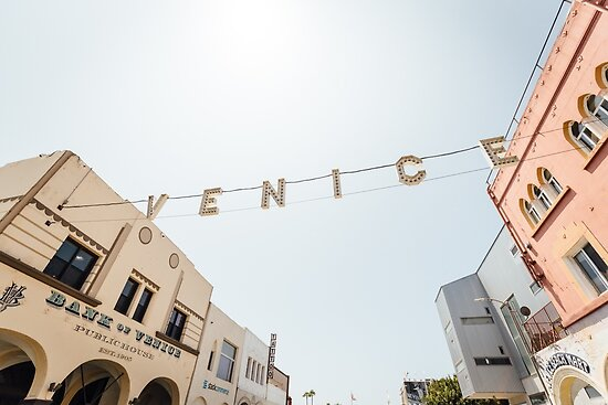 Classic Venice Beach Sign (Color) by HoellerPhoto