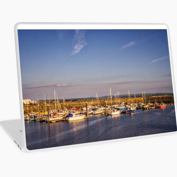 Boats in a Harbour Laptop Skin