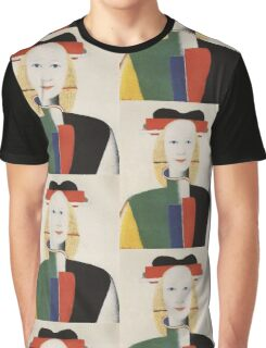 Kazemir Malevich - Girl With A Comb In Her Hair 1933 Graphic T-Shirt