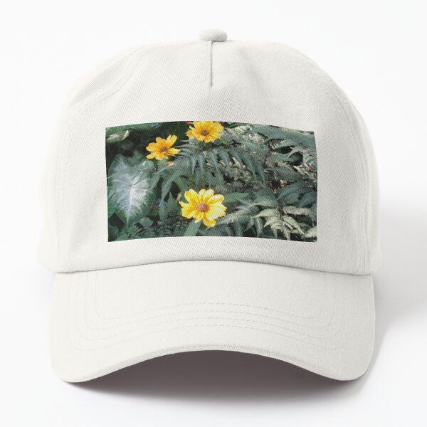 False Sunflowers and Leaves Dad Hat