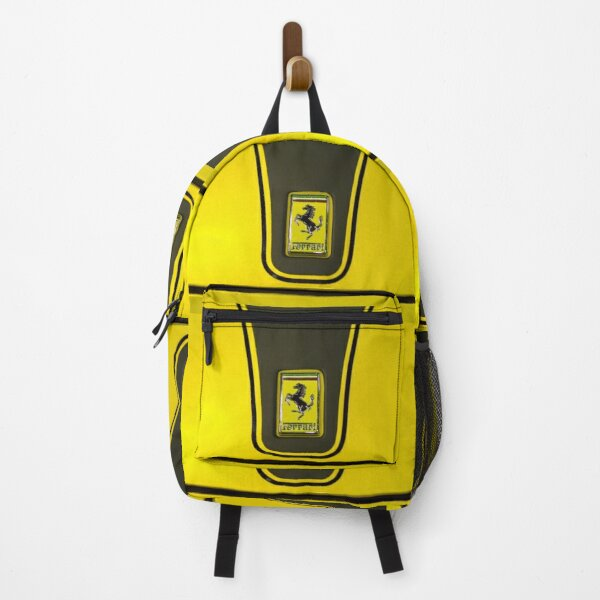 ferrari yellow  racing horse style luxury racing car Backpack