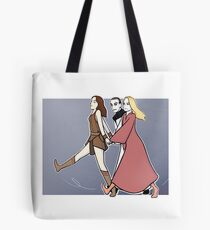 Gallifrey: we are a team! BLUE PRINT Tote Bag