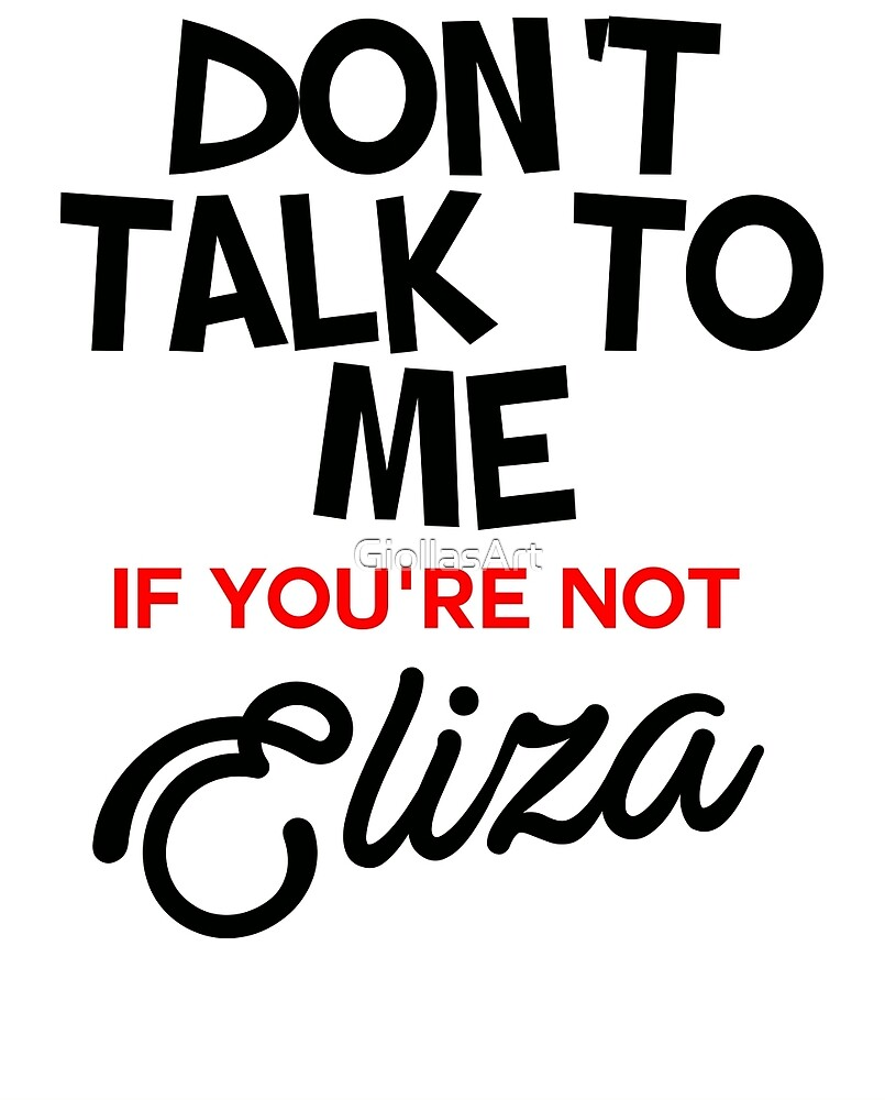 Do not talk to me (Eliza) by GiollasArt