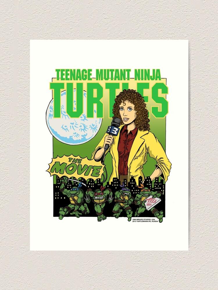 Ninja Turtles Retro First Movie 1990 April O Neil Art Print By Arseniydubakov Redbubble