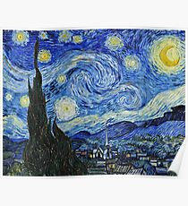 Vincent Van Gogh -  Starry Night 1889  Poster