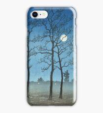 Kawase Hasui - Winter Moonlight iPhone Case/Skin