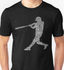 Baseball Softball Player Calligram Unisex T-Shirt