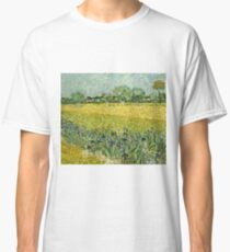 Vincent Van Gogh - Field With Flowers Near Arles, 1888  Classic T-Shirt