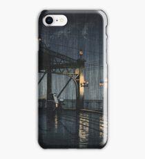 Kawase Hasui - Night Rain On Shin-O-Hashi iPhone Case/Skin