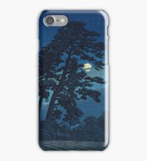 Kawase Hasui - Full Moon In Magome iPhone Case/Skin