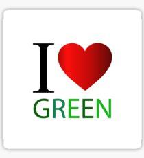 I love green Sticker