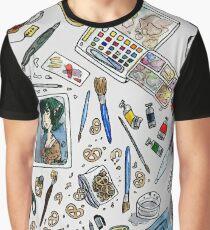 Arlie Opal's Art Supplies Painting Graphic T-Shirt