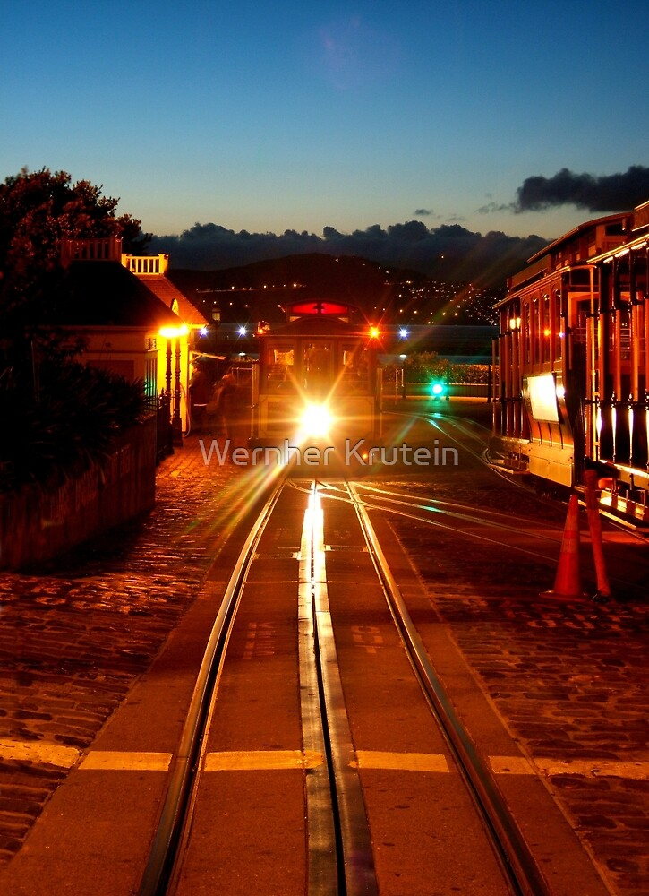 Hyde Street Cable Car in the Twilight Light by Wernher Krutein