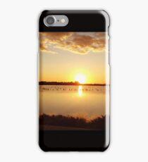 Salt lake sunset iPhone Case/Skin
