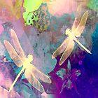 Dragonflies Dragonflies A Duvet Covers, Throw Pillows, Tote bag by Vitta