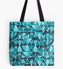 Shadowhunters Runes Mosaic Tote Bag