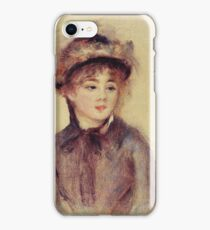 Renoir Auguste - Bust Of A Woman Wearing A Hat 1881 iPhone Case/Skin