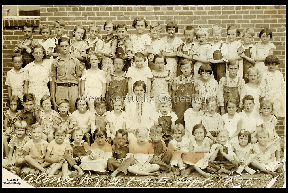 1935 Almo School, 1st-4th Grades, Calloway County, Kentucky by Don A. Howell
