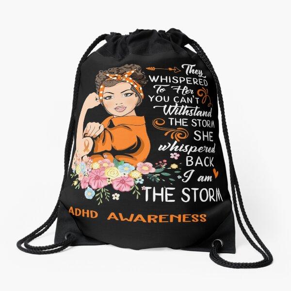I Am The Storm ADHD Awareness Drawstring Bag