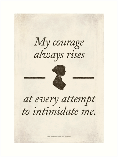 Jane Austen's Pride and Prejudice - Literary Quote, Book lovers gift, modern home decor. by RedHillPrints