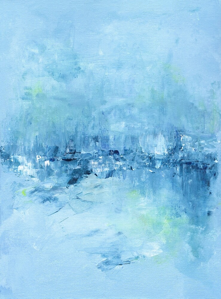 Abstract in Blue by Kate Chesters
