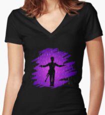 Purple Rain - Prince  Women's Fitted V-Neck T-Shirt