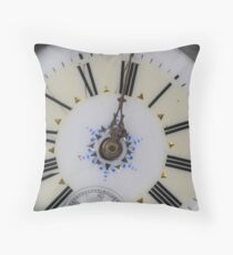 Portrait of an old watch face, vintage fob time piece Throw Pillow