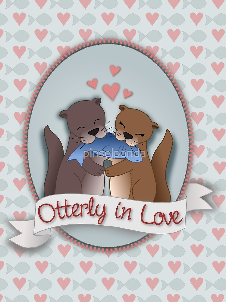 Otterly in Love by pinselpanda