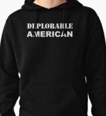 Deplorable American #basketofdeplorables Election 2016 White Pullover Hoodie