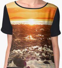 reflections at rocky beal beach Women's Chiffon Top